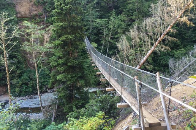West Coast Trail Logan Creek Suspension Bridge