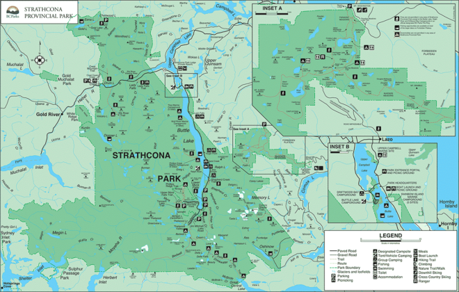 Strathcona Provincial Park Trail Map