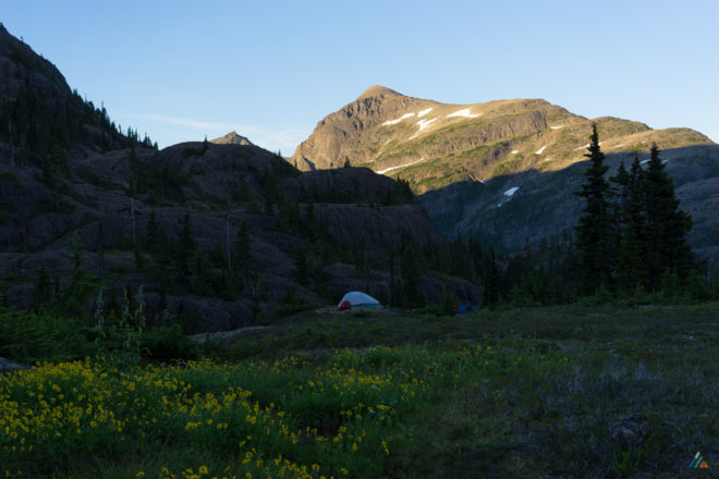 Augerpoint Traverse Ruth Masters Lake Camp Mount Albert Edward Alpenglow Wildflowers